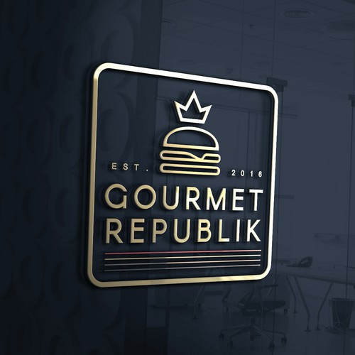 luxurious logo for Gourmet Republik