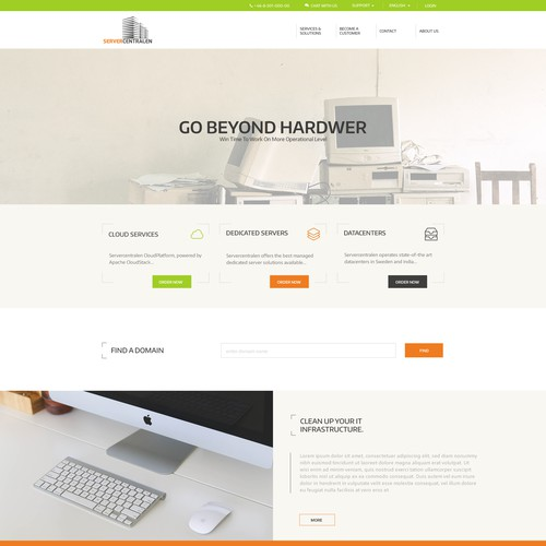 web design for server centralen