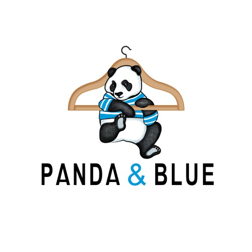 Classy neutra colors Panda for clothing shop