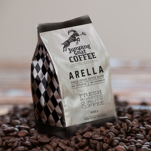 Label coffee Arella Jumping goat coffee brend