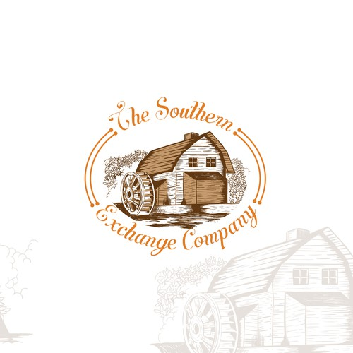 Vintage barn logo design for fashion companies.