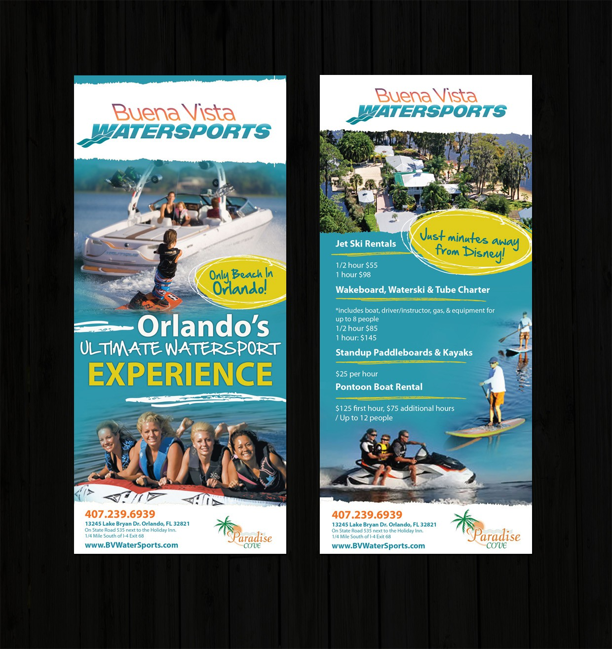 Help Buena VIsta WaterSports with a new print or packaging design