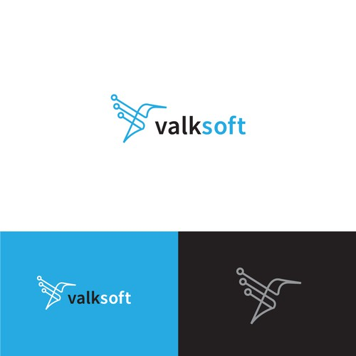 Creative logo for Software Company - Valksoft