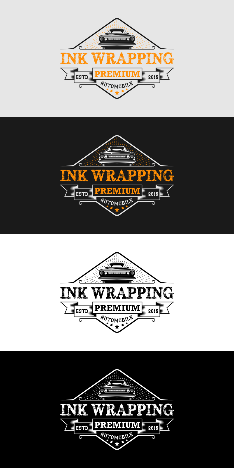 creating a logo for car wrapping compagny based in France