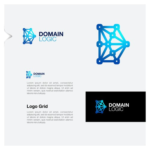 Logo design concept for blockchain company