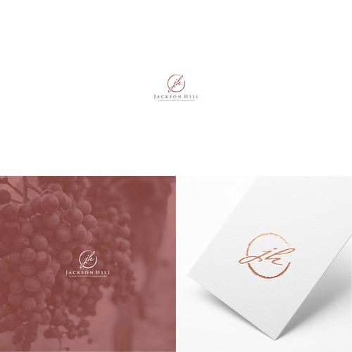 Simple initials Logo for Wineyard