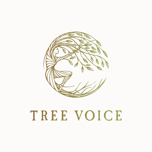 Hand drawn logo design for a person connected to the tree :)