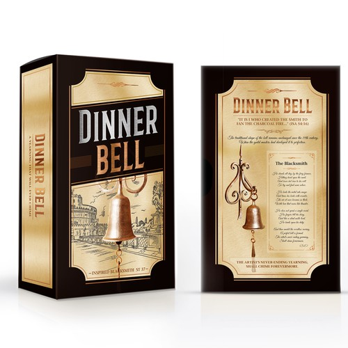 Dinner bell, packaging design