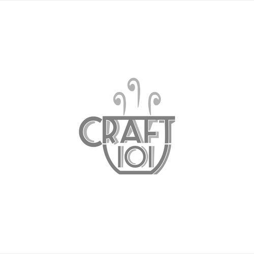 Clean, white, grey craft cafe for Craft 101
