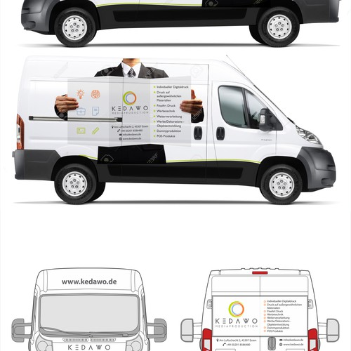 Car design for a creative printing company
