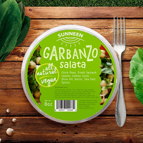 Garbanzo Salad label design concept