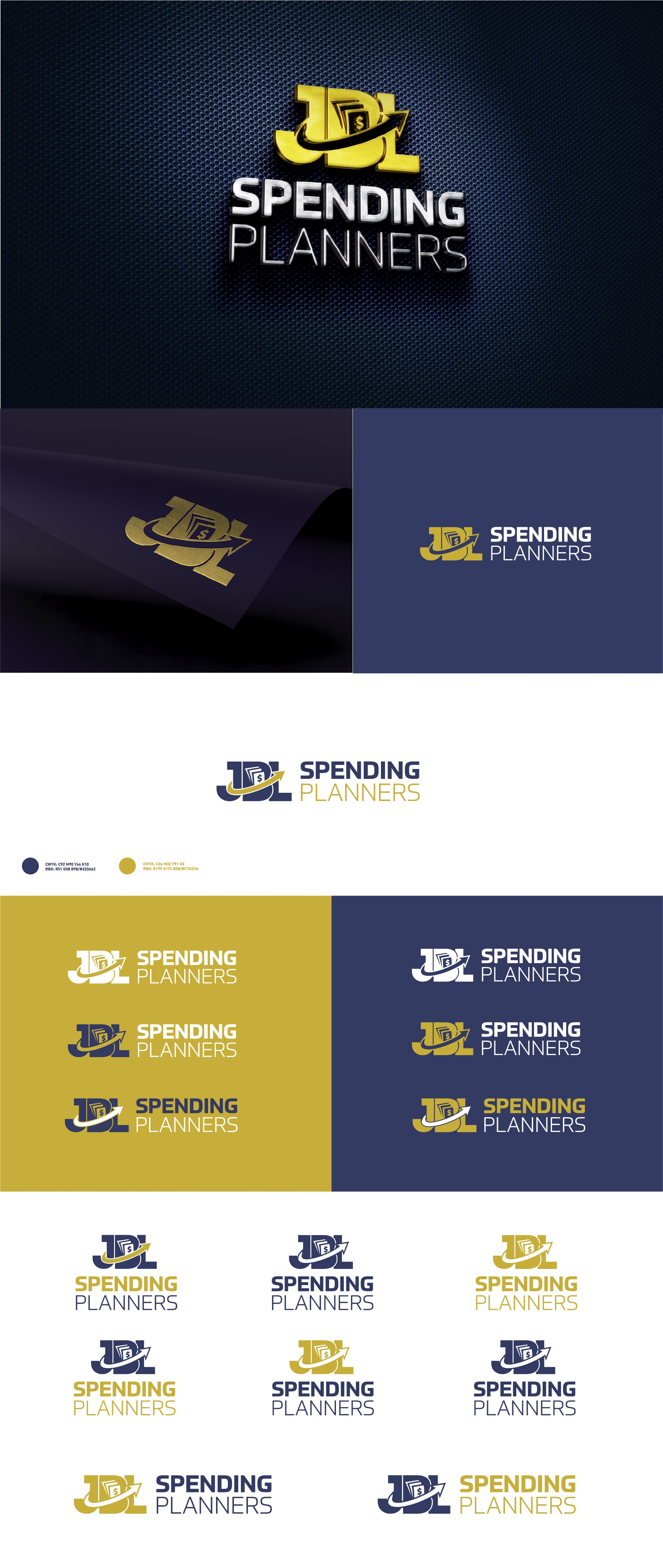 JBL Spending Planners needs a logo to show people they can be free from financial woes!