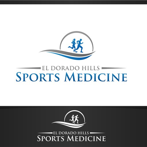 Create a clean, sophisticated logo for El Dorado Hills Sports Medicine