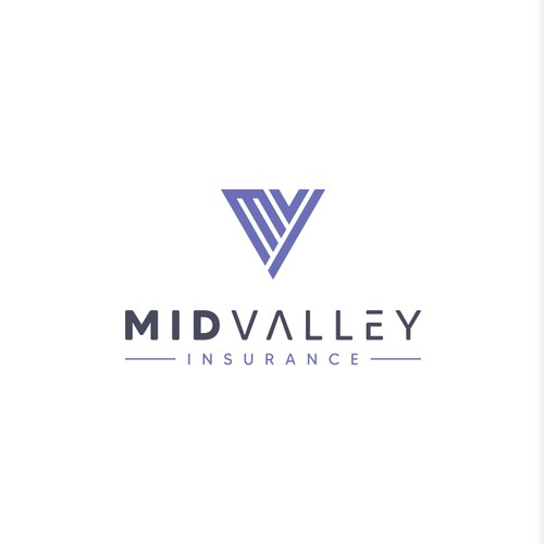 Creative Geometric Logo For Mid Valley Insurance