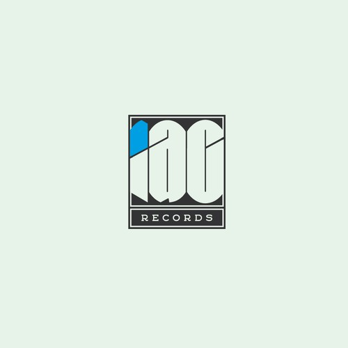 IAC Records badge logo like major record companies from the 60ies and 70ies