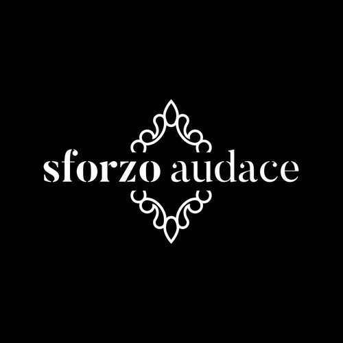 Luxury fashion bag brand logo concept