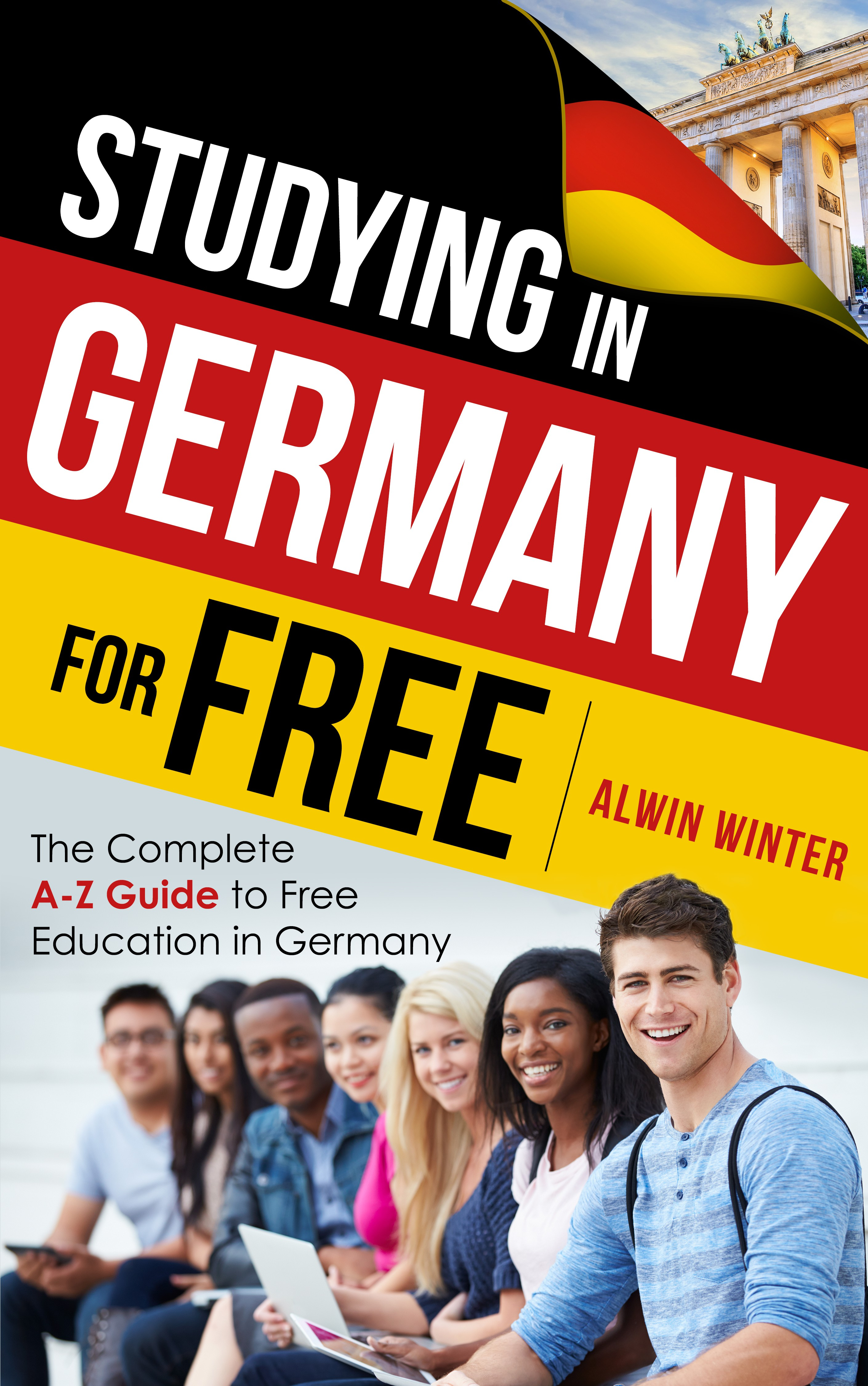 Studying in Germany for free! Create an e-book cover for an educational guide