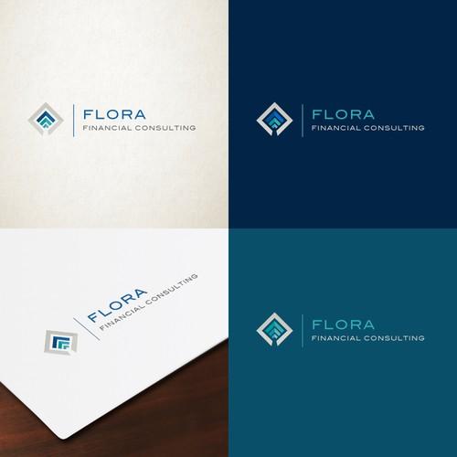 "Logo design for ""Flora Financial Consulting"""