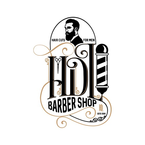 HDL Barber Shop Logo Design