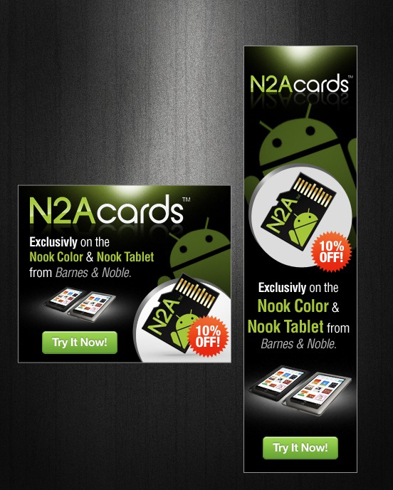 New banner ad wanted for N2A Cards