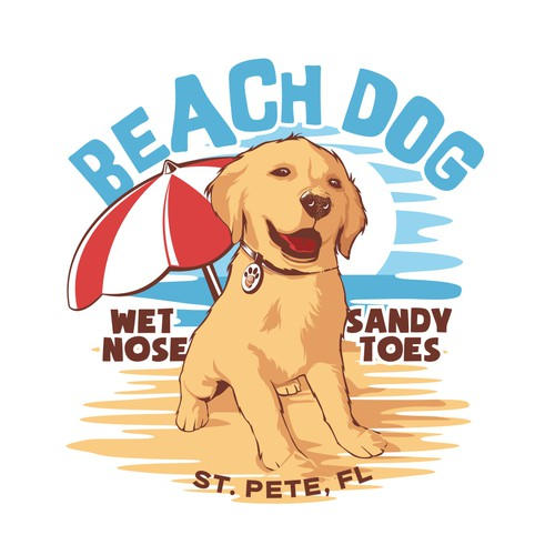 Beach dog Illustration