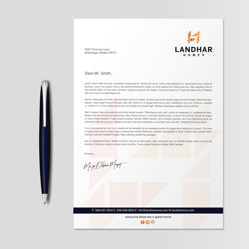 Simple & Clean Letterhead design