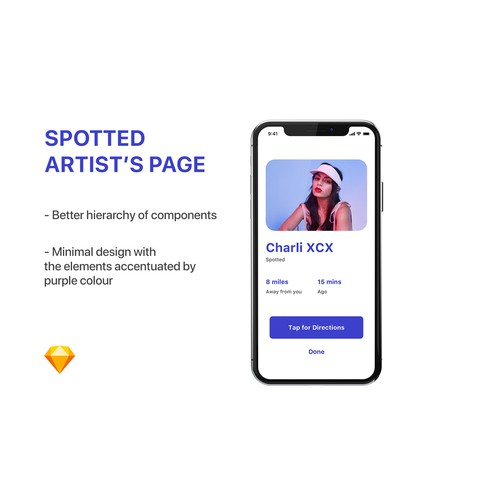 """App design for """"Paparazzi"""" app 