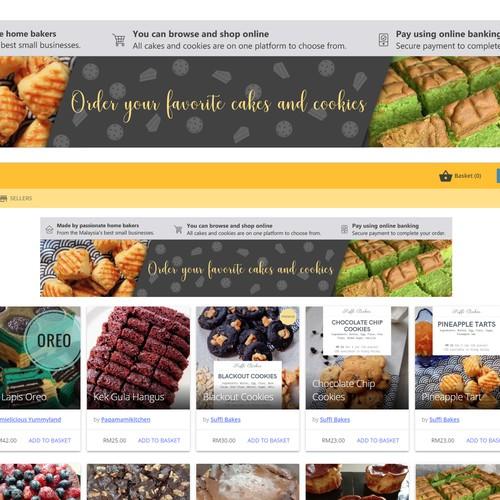 Web banner for bakery