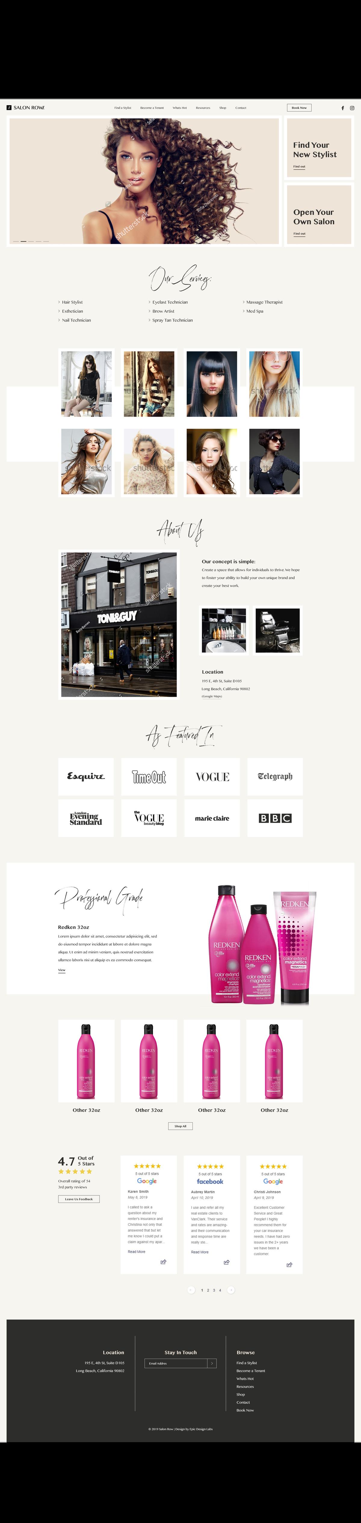 Salon Homepage
