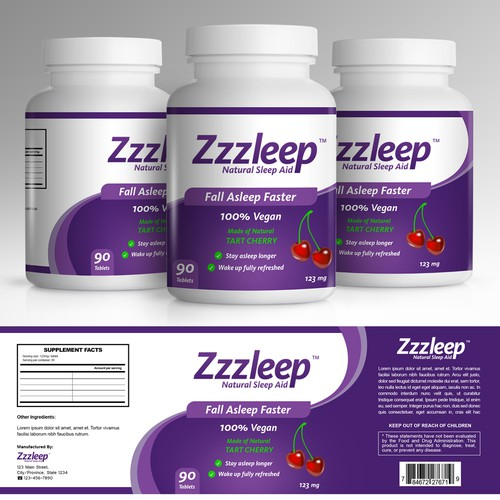 Zzzleep Natural Sleep Aid - 100% Natural