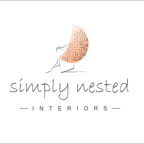 Create a sophisticated logo for Simply Nested, an interior design blog and consulting service