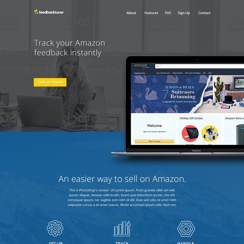 Landing page for SAAS company