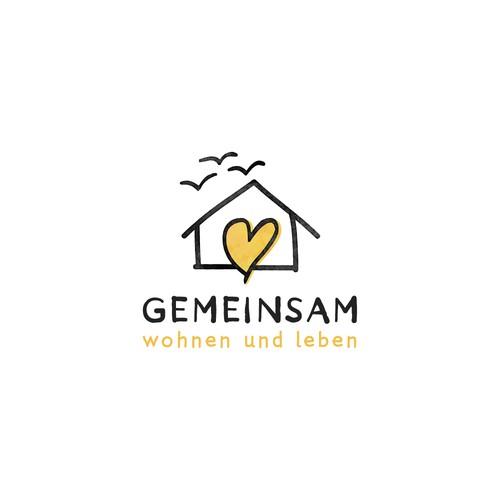 Playful logo design for the refugees shelter