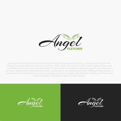Angel Fletcher Logo Design