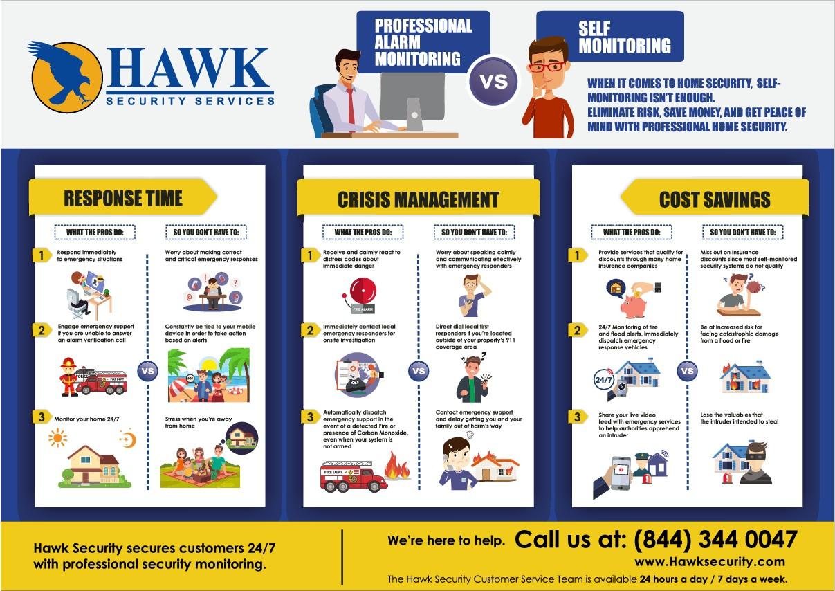Two Alternative Infographics - AMSA & Hawk Security