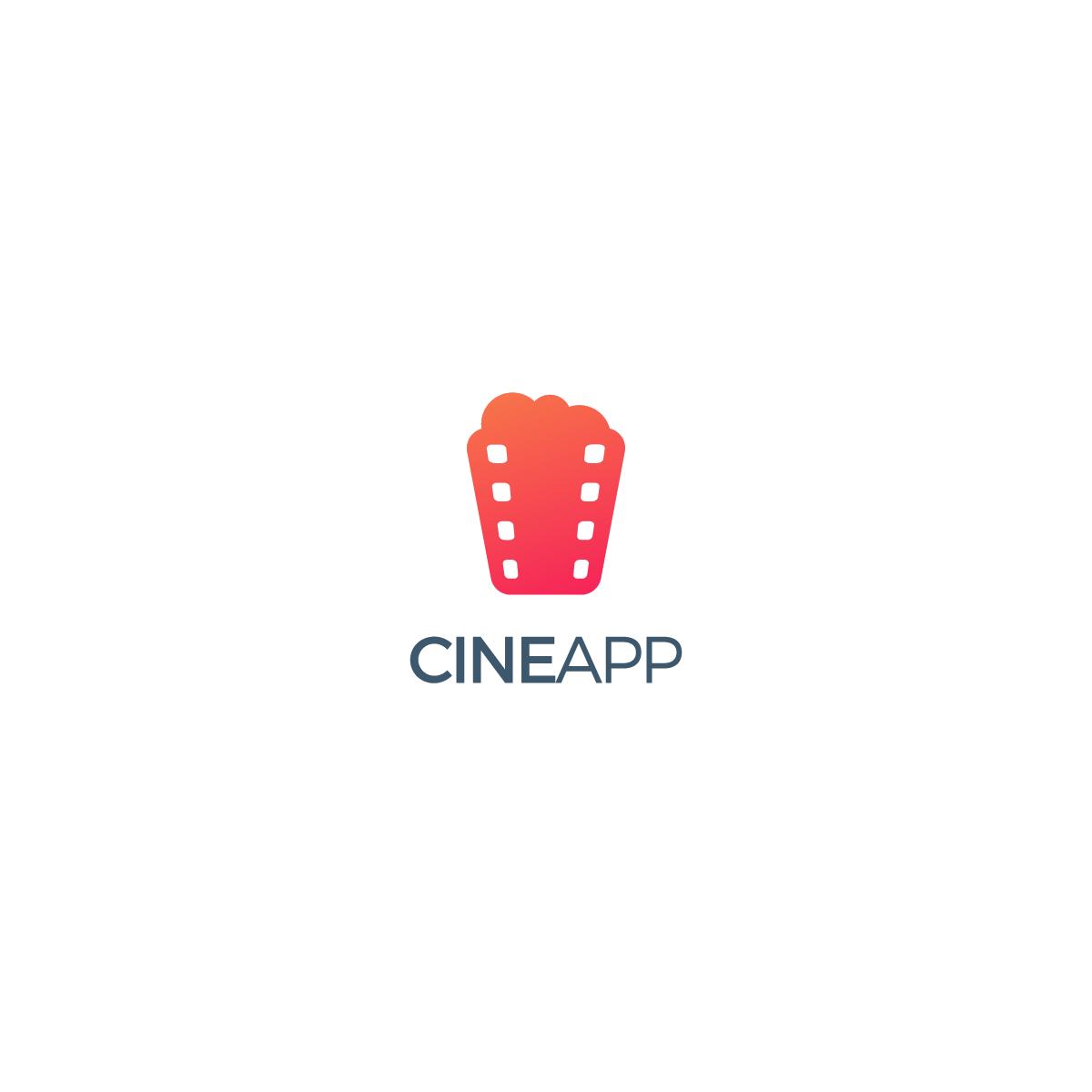 Create a fancy logo for the best movie-ticket app