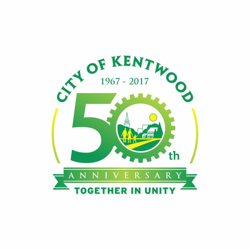 City of Kentwood 50th anniversary logo