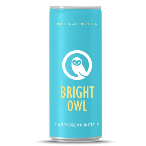 Vibrant label for an energy drink