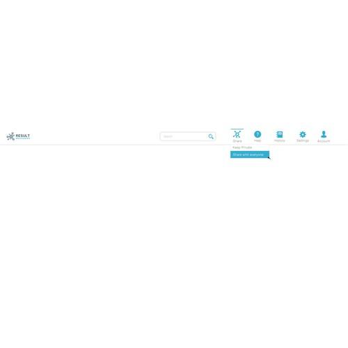 Simplistic header for web2.0 site