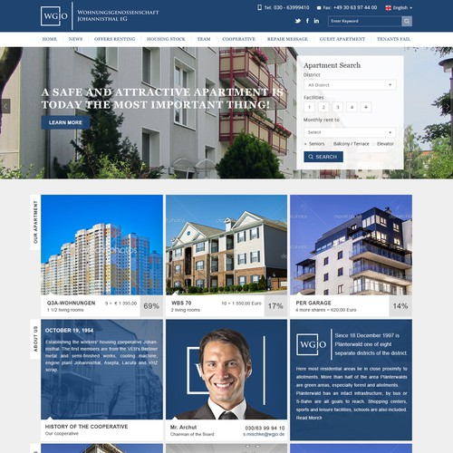 Modern well managed buying selling info based property website