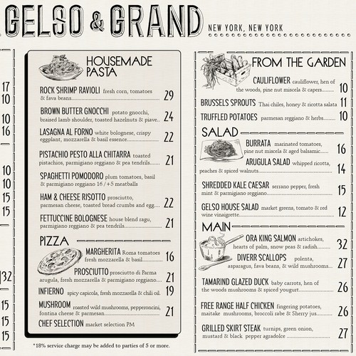 Menu for Gelso & Grand