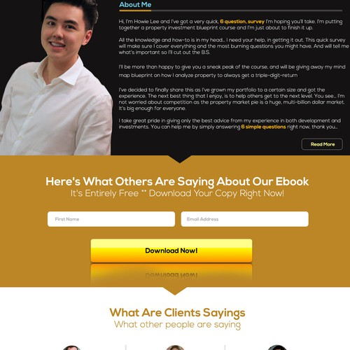 Homepage design for property