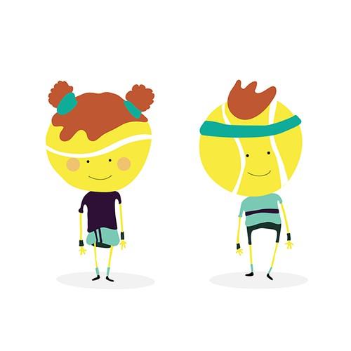 Ball Tennis Characters
