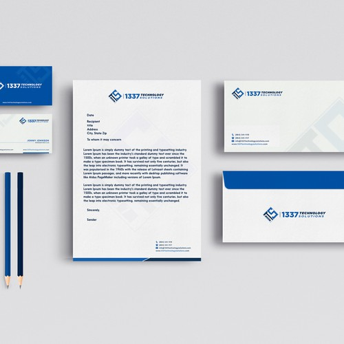 Elegant Brand Identity Package For 1337 Technology Solutions
