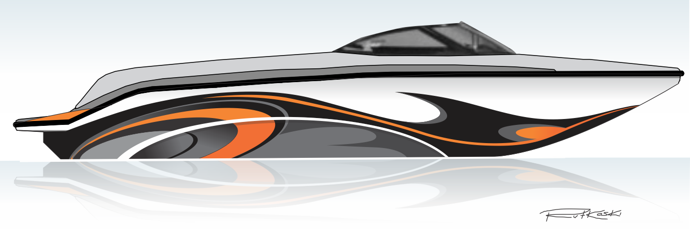 Design the graphics for my new boat (Founder of 99designs).