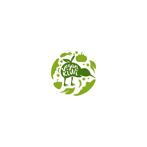 Organic Logo Concept for Vegan Kiwi