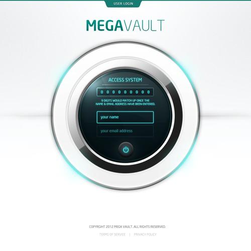 Create the next website design for www.megavault.com