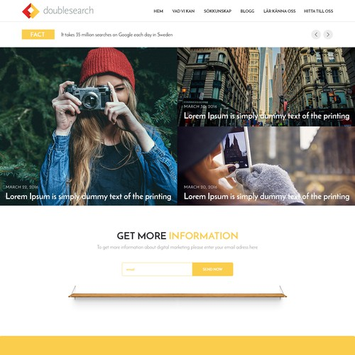 Doublesearch homepage design