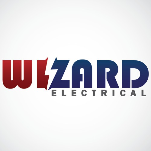 a creative logo for  an electrician business called Wizard Electrical