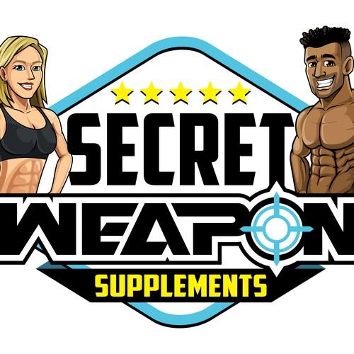 """""""Secret Weapon Supplements"""" Logo"""